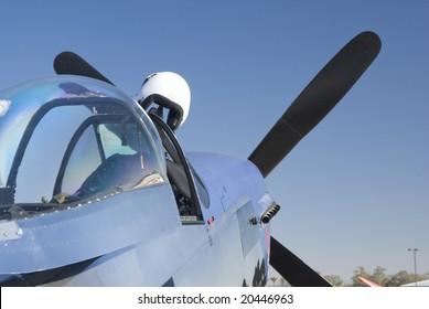 a P-51 Mustang aircraft