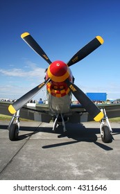 P51 Mustang On display at an airshow