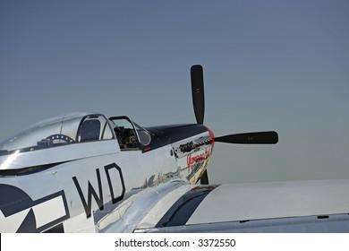 P-51D Mustang, Rear Oblique View