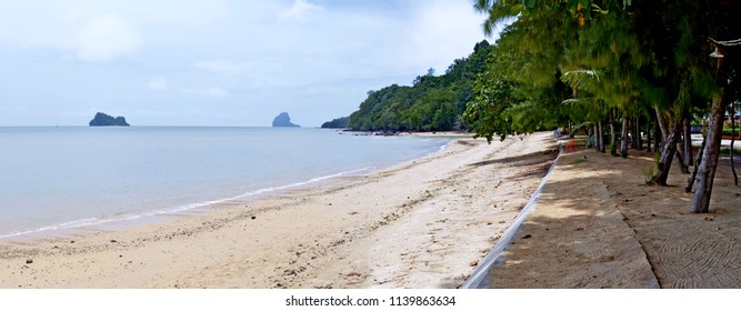 Pa Sai beach on Koh Yao Noi with Koh Nok in the background, in the Phang Nga Bay.