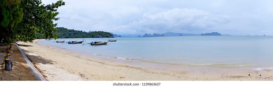 Pa Sai beach on Koh Yao Noi and the Phang Nga Bay.