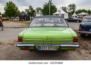 Paaren im Glien, Berlin, Germany, June 03, 2017, Oldtimer Show: Opel Diplomat V8 1973, glossy and shiny old classic retro auto