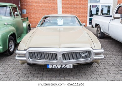 Paaren im Glien, Berlin, Germany, June 03, 2017, Oldtimer Show: Oldsmobile Toronado 1968, glossy and shiny old classic retro muscle car