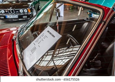 Paaren im Glien, Berlin, Germany, June 03, 2017, Oldtimer Show: BMW 1600-2 Cabrio 1968, glossy and shiny old classic retro auto