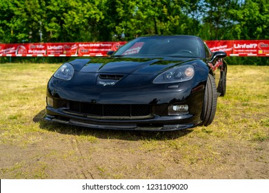 PAAREN IM GLIEN, GERMANY - MAY 19, 2018: Sports car Chevrolet Corvette (C6) Z06 Coupe. Die Oldtimer Show 2018.