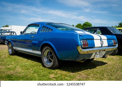 PAAREN IM GLIEN, GERMANY - MAY 19, 2018: Pony car Shelby Cobra GT350, (high-performance version of the Ford Mustang). Die Oldtimer Show 2018.