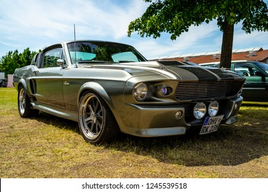 PAAREN IM GLIEN, GERMANY - MAY 19, 2018: Pony car Shelby Cobra GT500, (high-performance version of the Ford Mustang). Die Oldtimer Show 2018.