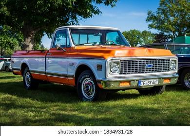 PAAREN IM GLIEN, GERMANY - OCTOBER 03, 2020: Full-size pickup truck Chevrolet C-10 Cheyenne, 1972. Die Oldtimer Show 2020.