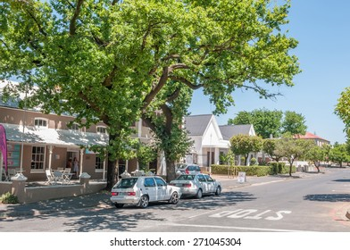 PAARL, SOUTH AFRICA - DECEMBER 11, 2014:  Street scene in Paarl.  The town name means Pearl