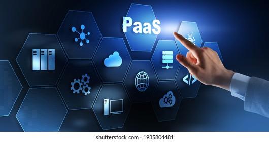 PaaS Platform as a service. Cloud computing services concept
