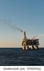 PA-B sea oil production platform, Sakhalin, Russia