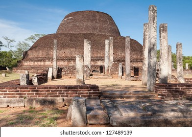Pabalu Vehera in ancient city of Polonnaruwa, Sri Lanka. Unesco World Heritage Site.