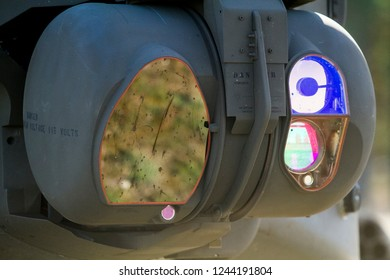 Pabrade/Lithuania August 20, 2014 Apache AH-64 combat helicopter sensor