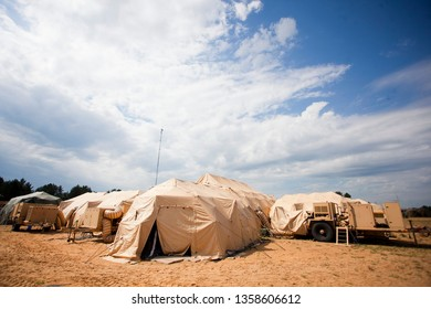 Pabrade/Lithuania June 12, 2014 Marine military camp, nobody, anywhere in the world