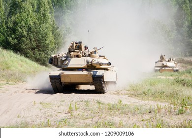 Pabrade/Lithuania June 12, 2016 M1A2 Abrams Main Battle Tank