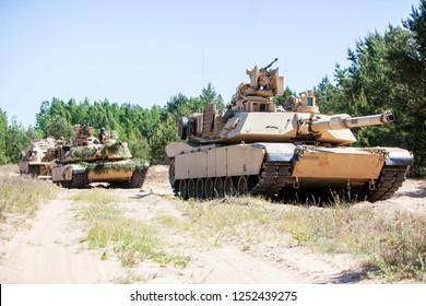 Pabrade/Lithuania June 12, 2016 M1A2 Abrams Main Battle Tank