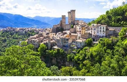 Pacentro - impressive medieval village in Abruzzo,Italy
