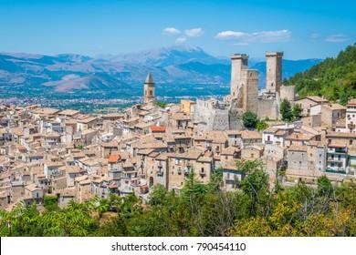 Pacentro, medieval village in L'Aquila province, Abruzzo, central Italy.
