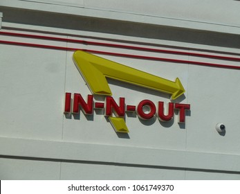 Pacheco, CA - April 15, 2012: In-N-Out Burger Restaurant Sign. In-N-Out Burger is an American regional chain of fast food restaurants with locations in the American Southwest and Pacific coast.