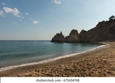 Pachia ammos beach at Samothraki - Greece