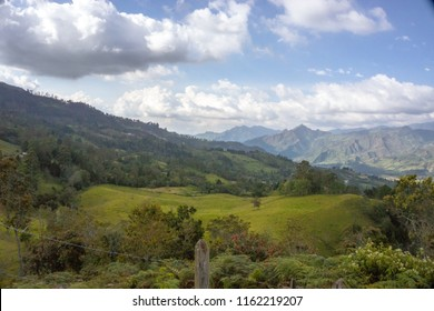 Pacho, Colombia, April 15 2018, taking a break from the city on this beautiful mountain with this amazing view.