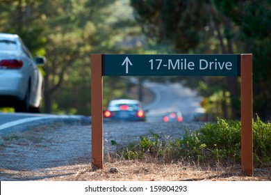 PACIFIC GROVE, CA - OCTOBER 19: Cars navigate the scenic 17 Mile Drive that run through Pacific Grove October, 19 2013 in Pacific Grove, California. To this day the drive is exactly 17 miles long.