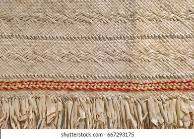 Pacific island weaving artwork. Abstract  background texture. No people. Copy space