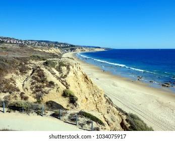 Pacific Ocean Beach Surf in Crystal Cove California