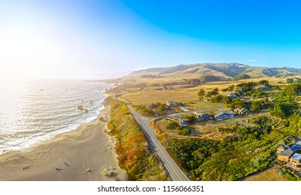 Pacific Ocean Beach with Waves Landscape from California