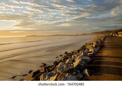 Pacific Ocean coastline. California. Half Moon bay.