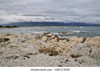 Pacific ocean in Kaikoura, New Zealand