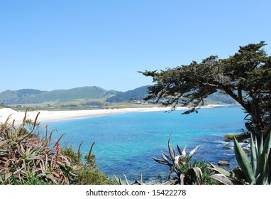 Pacific Ocean lagoon, 17 Mile Drive, California, USA