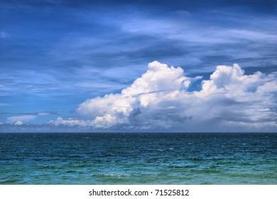 pacific ocean near Cairns, Queensland, Australia