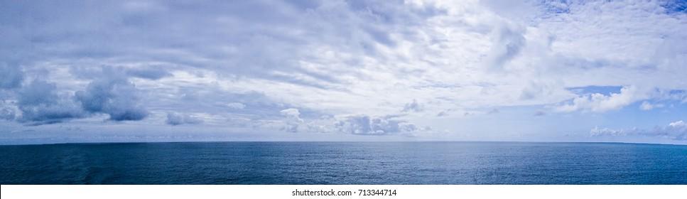 pacific ocean waterscapes panorama near alaska
