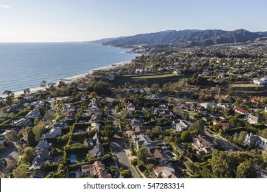 Pacific Palisades ocean view community in Los Angeles California.