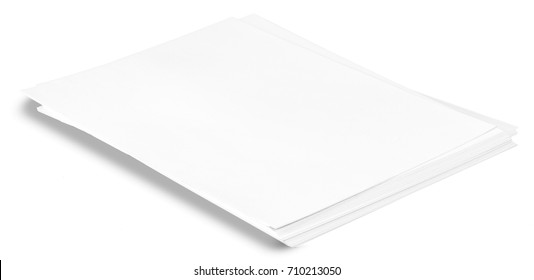 A pack of blank paper on a white background