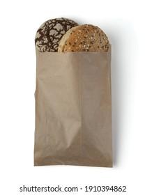 pack of bread, paper brown