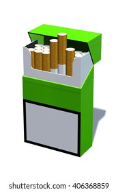 pack of cigarettes isolated on white - 3d rendering
