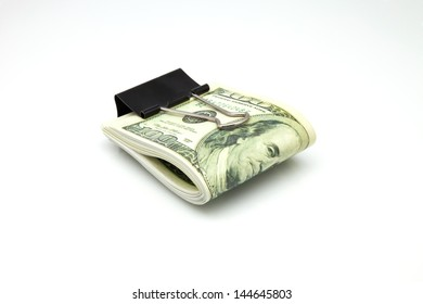 pack dollars isolated on a white background