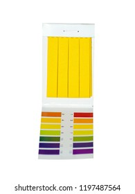 pack of litmus paper isolated on white