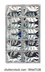 Pack of pills. Relief foil packing