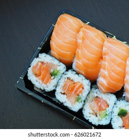 A Pack Of Salmon Sashimi Sushis