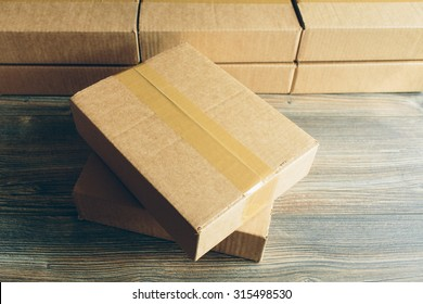 package on the table