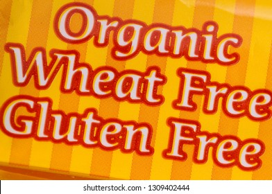 Package of organic wheat and gluten free for dietary restriction