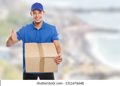 Package parcel delivery service box order delivering job success copyspace copy space outdoors