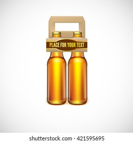 Packaging of beer, isolated on white background. illustration for your business