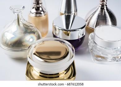 Packaging cosmetics bottle.