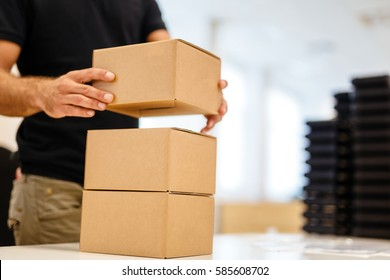 Packaging process last step before shipping