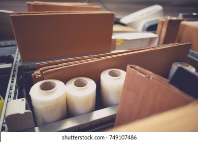 Packaging and Shipping Accessories and Materials. Boxes and Packaging Vinyls.