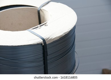 Packaging Straps - Plastic strapping bands for packaging and fastening cargo. - Image